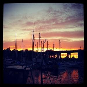 Granville Island sunset