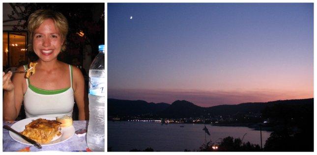 dinner & sunset