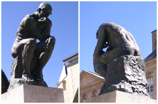 """One popular and one lesser known view of """"The Thinker"""""""