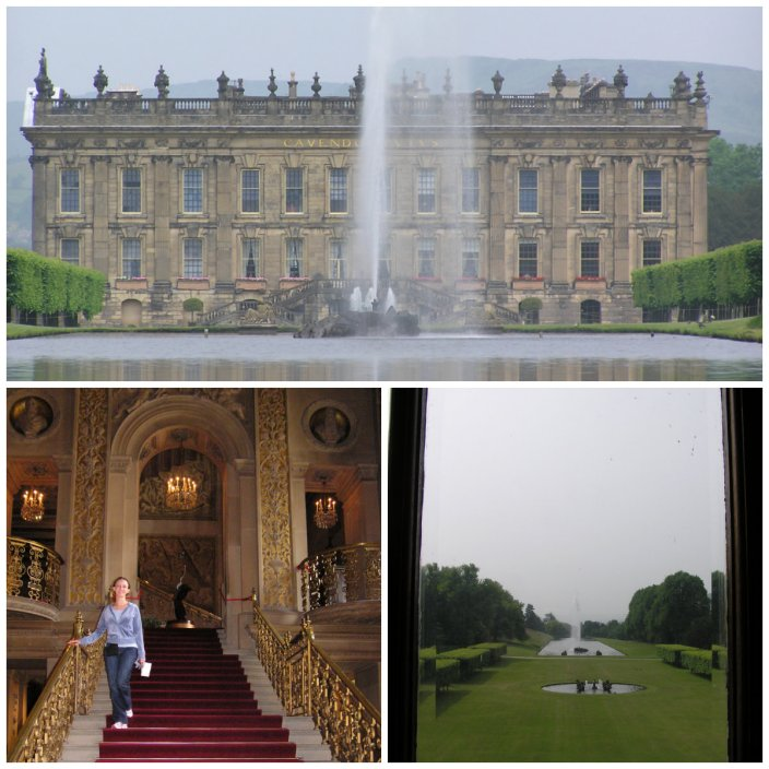 chatsworth house collage