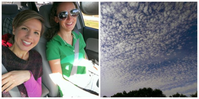 Sunshine and cotton ball clouds - let the road trip begin!