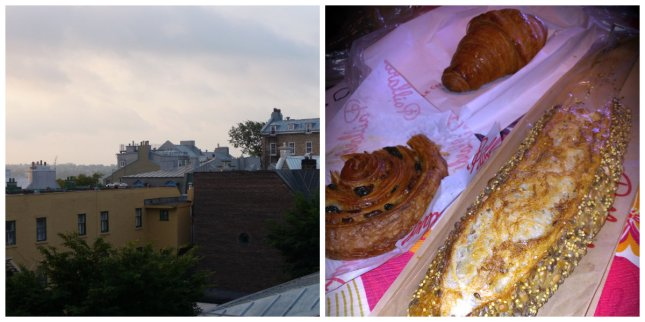 Morning above the rooftops of Quebec and half-eaten French pastries :-)
