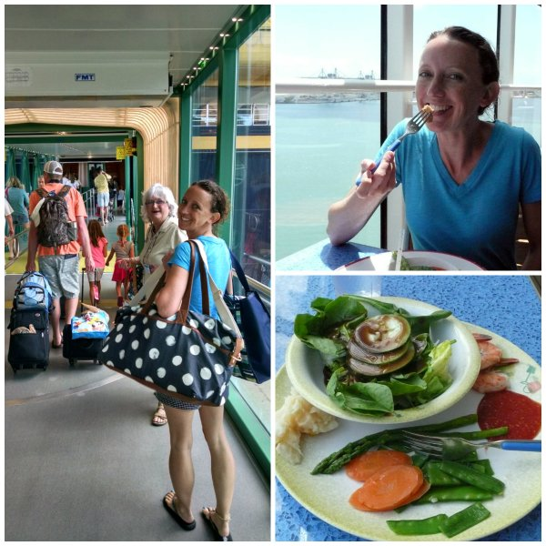 disney cruise boarding and lunch